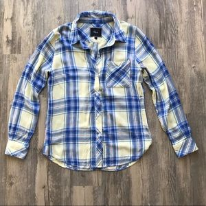 Rails Lightweight Flannel Yellow and Blue